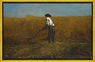 Berkin Arts Framed Winslow Homer Giclee Canvas Print Paintings Poster Reproduction(The Veteran in A New Field) #XLK