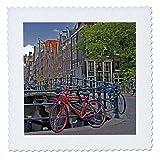 3dRose qs_82348_3 Bicycles at Canal Bridge, Amsterdam,