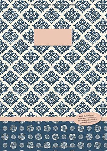 Heft Dotted Design •  Punktraster Notizbuch A4 • 96 Seiten mit Seitenzahlen und Inhaltsverzeichnis: Punktkariertes Papier im Softcover (Paperback) (Mondlicht-Muster gepunktet, Band 1)