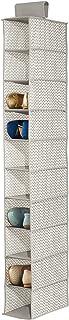 mDesign étagère suspendue en tissu avec 10 compartiments pour le rangement – rangement suspendu parfait pour tout type d'a...