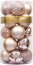 KI Store Christmas Balls Blush Pink 3.15-Inch 20ct Shatterproof Christmas Tree Ball Ornaments Decorations for Xmas Trees W...