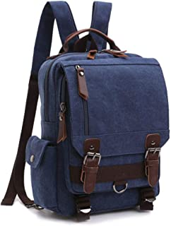 Backpack Purse, F-color Dual Use Canvas Messenger Bag Mini Backpack for Women