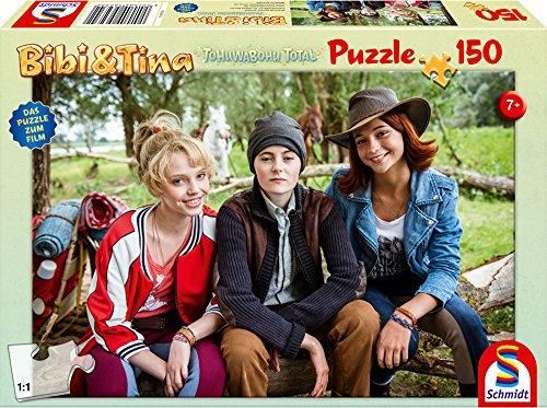 Schmidt Spiele Bibi & Tina Puzzle 56234, beige, Film 4, Bibi, Tina und Adea, 150 Teile