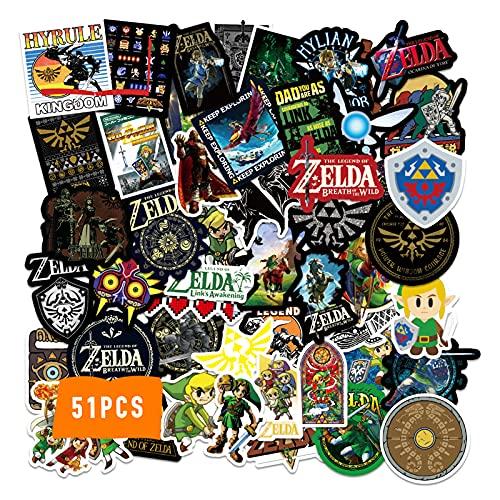 The Legend of Zel_da Stickers 51PCS Vinyl Cool Japanese RPG Game...