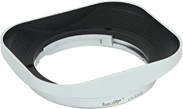 Haoge Bayonet Square Metal Lens Hood for Fujifilm Fuji Fujinon XF35mmF2 XF 35mm f/2 R WR and XF23mmF2 XF 23mm f2 R WR Lens on X-Pro2 X-T2 X-T20 X-T10 X-E2S X-A5 X-A20 X-E3 X-H1 as LH-XF35-2 Silver