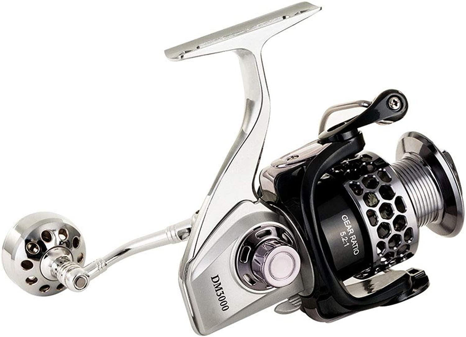 5.2 1 14BB Waterproof Carbon Drag Spinning Fishing Reel, Large Spool 20KG Max Drag Freshwater Pesca Spinning Fishing Reel Saltwater