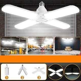 Lámparas colgantes LED Tubos de aspas de ventilador plegables 60W E27, lámpara LED de ángulo ajustable súper brillante 6500K para escalera de garaje Sala de estar Restaurante