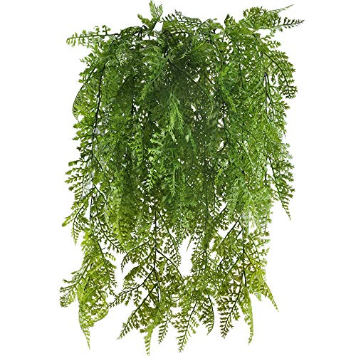 MIHOUNION 2 unids Plantas Artificiales Colgantes Plantas plastico Plantas Verdes Artificiales para la decoración del hogar de Interior al Aire Libre blacon