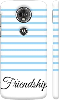 Colorpur Sky Blue Strips Friendship Printed Back Case Cover for Moto E5 Plus