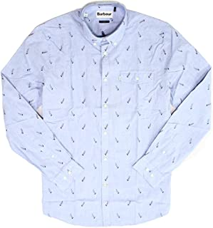 Men Small Sailboat Tailored Fit Button Down Shirt