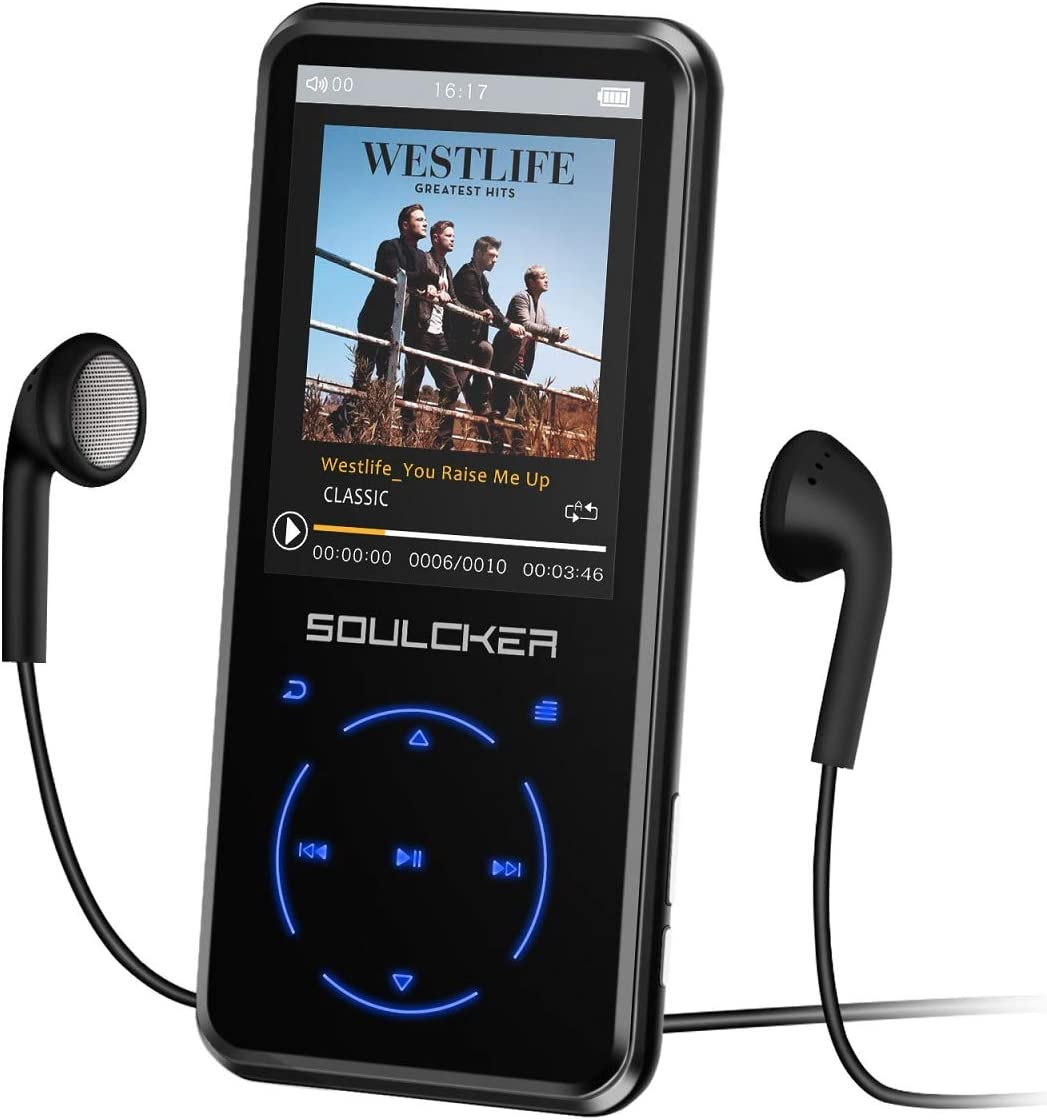 MP3 Player, 16GB MP3 Player with Bluetooth 4.0, Portable HiFi Lossless Sound MP3 Music Player with FM Radio Voice Recorder E-Book 2.4'' Screen,...