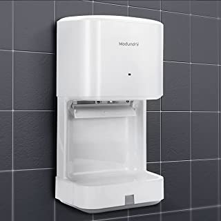 Modundry Hand Dryer Automatic Electric Fast Dry High Speed Hand Dryers with Drain Tray for Bathroom Commercial and Home (White)