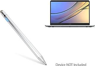 Huawei MateBook X Pro Stylus Pen, BoxWave [AccuPoint Active Stylus] Electronic Stylus with Ultra Fine Tip for Huawei MateBook X Pro - Metallic Silver