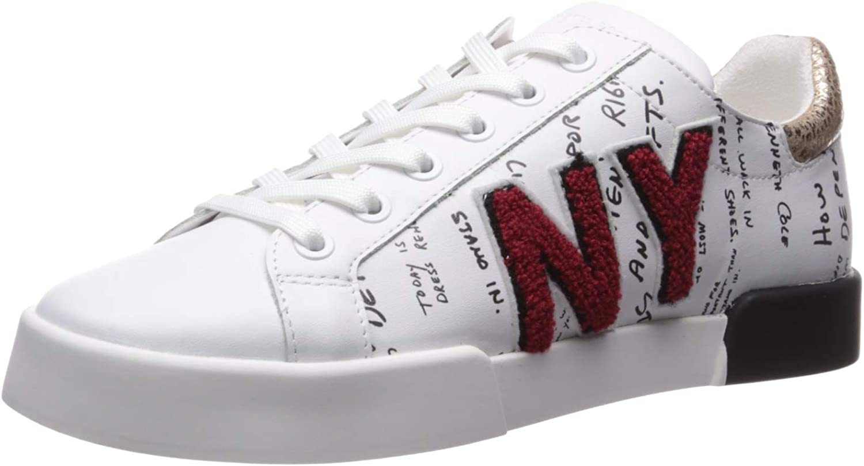 Kenneth Cole New York Womens Tyler Kc Varsity Patch Laceup Sneaker Sneaker