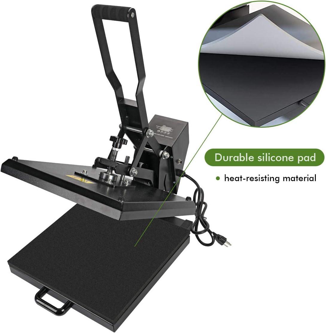 Aonesy Heat Press Machine 15x15 inch Digital Sublimation Printer Press Industrial Clamshell Heat Transfer Machine for T Shirts