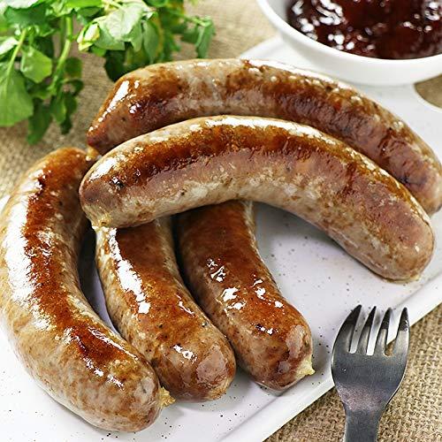 ミートガイ 手作り 生ソーセージ【スモーキービーフ&ポーク】100%無添加・砂糖不使用 (5本 約500g) Additive-free Non-Sugar Original Smokey Beef&Pork Sausage