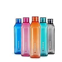 Cello Venice Plastic Bottle Set, 1 Litre, Set of 5, Assorted