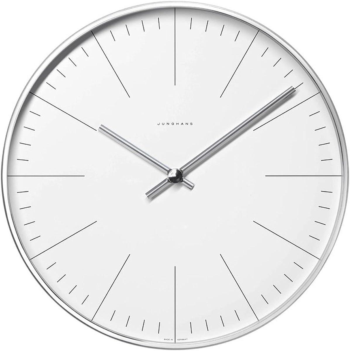 Junghans 367604600 MAX Bill - Reloj (30 cm) con Caja de Acero Inoxidable y Mecanismo de Cuarzo