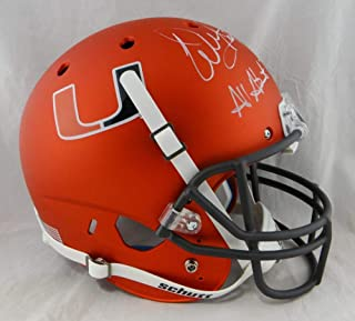 Warren Sapp Signed Miami Hurricanes F/S Orange Helmet w/All About The U- JSA W Auth White