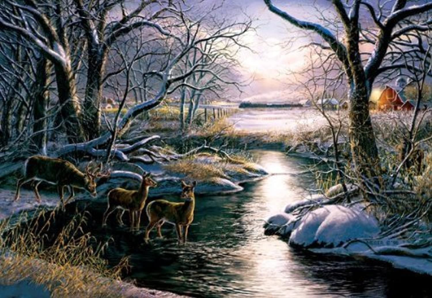 A Country Silent Night Jigsaw Puzzle by SunsOut Puzzles