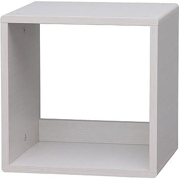 アイリスオーヤマ QR ボックス オープン 幅34.4×奥行29.0×高さ34.4cm ホワイトパイン QR-34