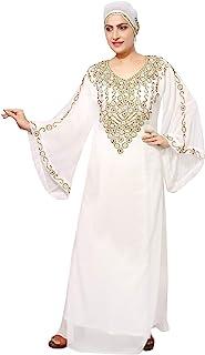 Bedi Estilo de los Emiratos Árabes Unidos Kaftan Islámico Árabe Abaya Farasha WOMENSMAXI Vestido