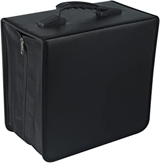Fasmov 400 Disc CD/DVD Binder DVD Wallet Case with Black CD Storage Pages