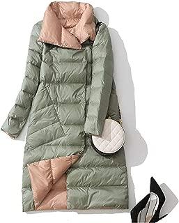 Surprise S Autumn Winter Women Double Side Wear Down Jacket 90% White Duck Down Coats Parkas