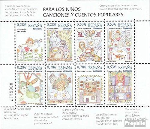 Espagne mer.-no.: 4029-4036 Feuille Miniature (complète.Edition.) 2005 pour Enfants et Abzählreime (Timbres pour Les collectionneurs) Bandes dessinées