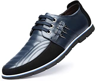 Asifn Men's Leather Classic Oxford Lace Up Casual Driving Business Loafers Men Comfort Sport Walking Sneaker