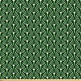 ABAKUHAUS Blätter Microfaser Stoff als Meterware, Laub