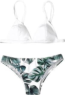 Bikini Mujer 2018 Verano Conjunto de Bikini Parte de Arriba Bikini Push Up Básico Tanga Bikini Playa de Hojas de Impresión Mujer Colchado Bañador Traje de Baño Ropa de Playa