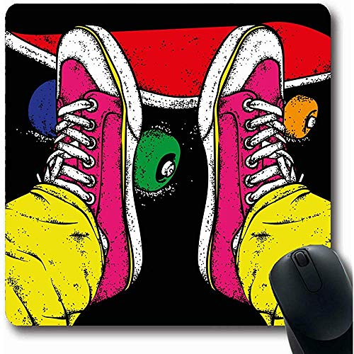 Mousepads Hardlopen Sneakers Jeans Street Sport Recreatie Skater Bow City Tekenen Ontwerp Ga Oblong Vorm 18X22Cm Anti-slip Gaming Mouse Pad