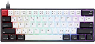 AOIWE 61 Touches Gaming Clavier Wired RVB Clavier de Jeu mécanique avec PBT KeyCap (Color : Black Base+Green Switch)