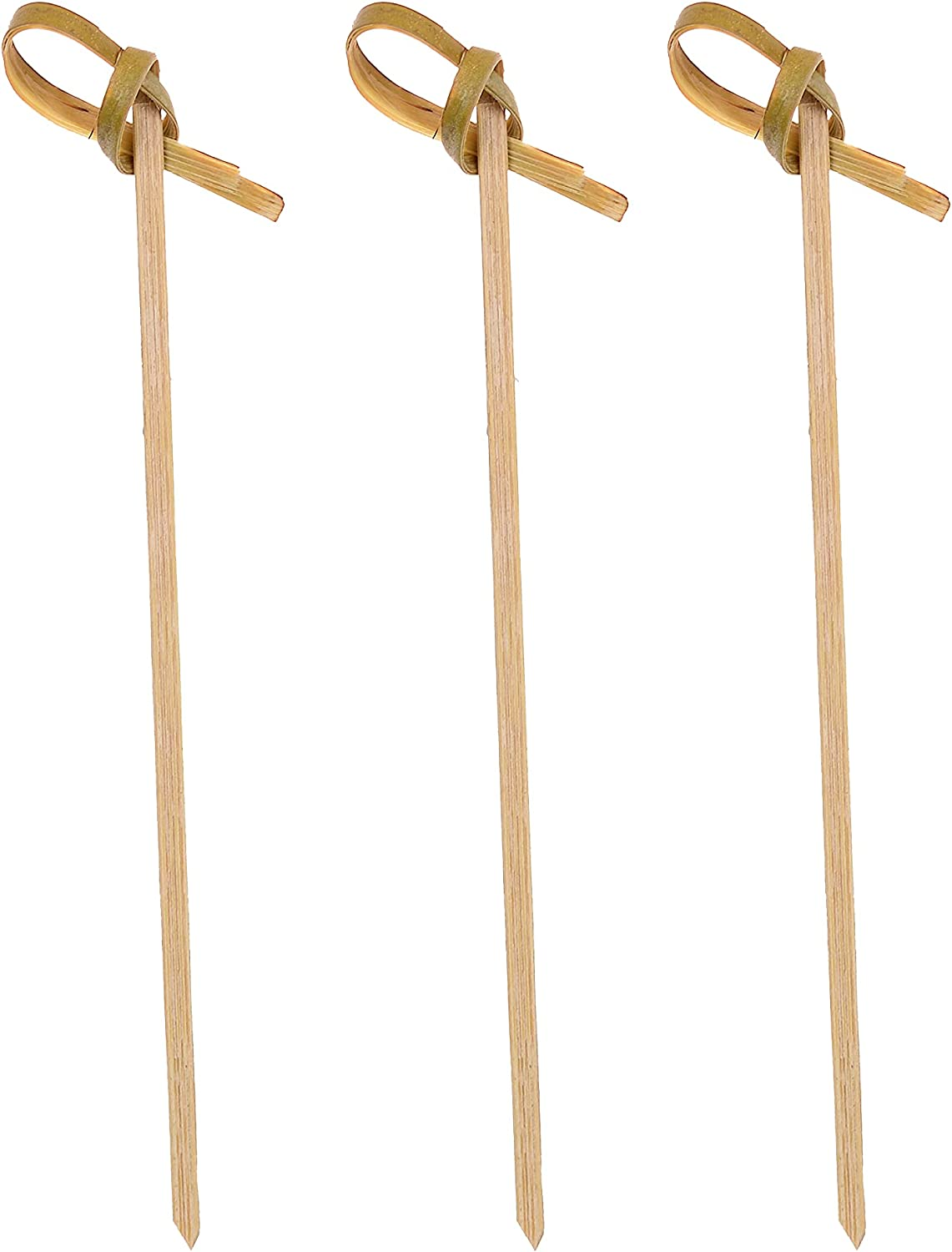 Bamboo Cocktail Picks - 4.1 inch Pack With [Alternative dealer] 300 Kno Max 54% OFF Looped of