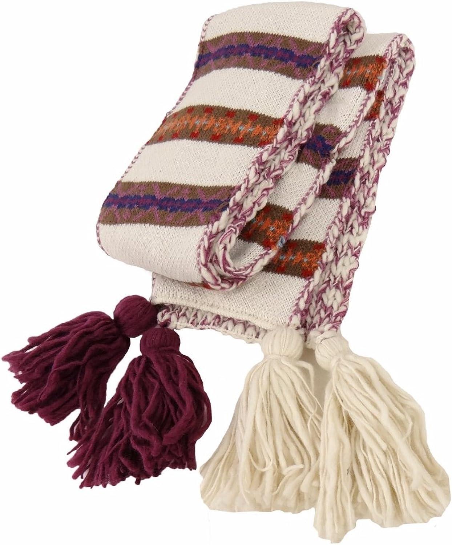 Tribal Pattern Wool Blend Winter Scarf