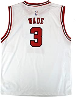 Outerstuff Dwyane Wade NBA Chicago Bulls Official Home White Player Replica Jersey Youth