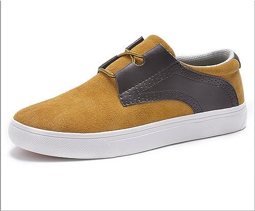 WLJSLLZYQ Flache Herrenschuhe Unten Gummischuhe Flach-Boden Low-Cut-Schuhe Sportschuhe