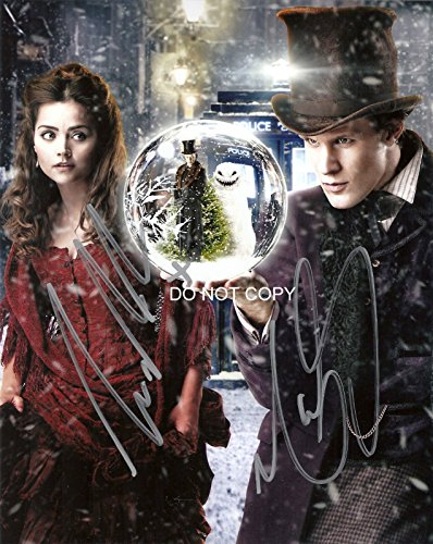 Doctor Dr. Who Matt Smith & Jenna Coleman cast reprint signed photo #2 RP