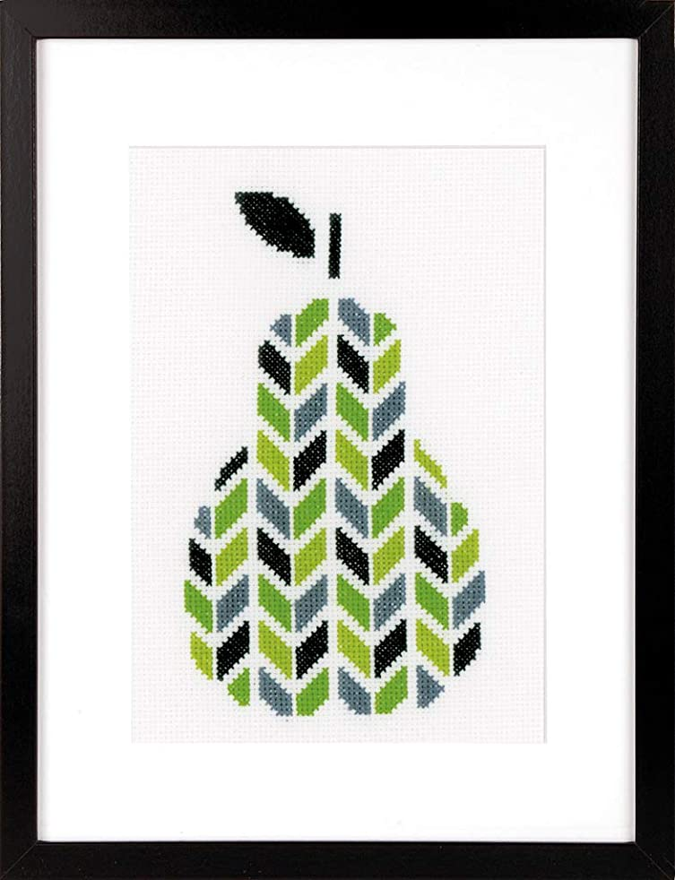 Vervaco 14 Count Pear On Aida Counted Cross Stitch Kit, 5.5