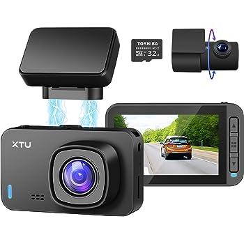 ドライブレコーダー 前後カメラ 4K 32GB SDカード付き 800万画素 XTU ドラレコ 170度広角 SONYセンサー デュアルドライブレコーダー WIFI GPS搭載 LED信号対応 ジェスチャー撮影 ループ録画 タイムラプス撮影 動体検知 暗視機能 日本語説明書