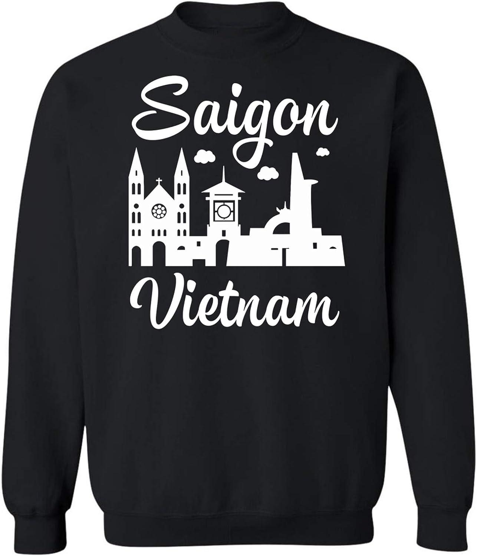 1cf5ce30ce04 Teechopchop Saigon Saigon Saigon Vietnam Flag Tourist Souvenir Tr Sweatshirt  483406