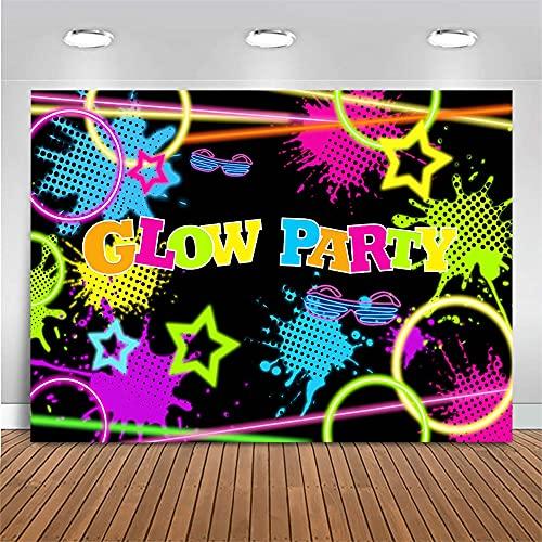 Let's Glow Party Graffiti fotografía de Fondo decoración de Fiesta de cumpleaños Foto de Fondo Estudio fotográfico A1 5x3ft / 1,5x1 m