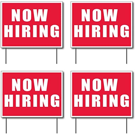 2-sided Banner /& 18x24 Apply Inside/' 2/'x4/' 2 1 Now Hiring