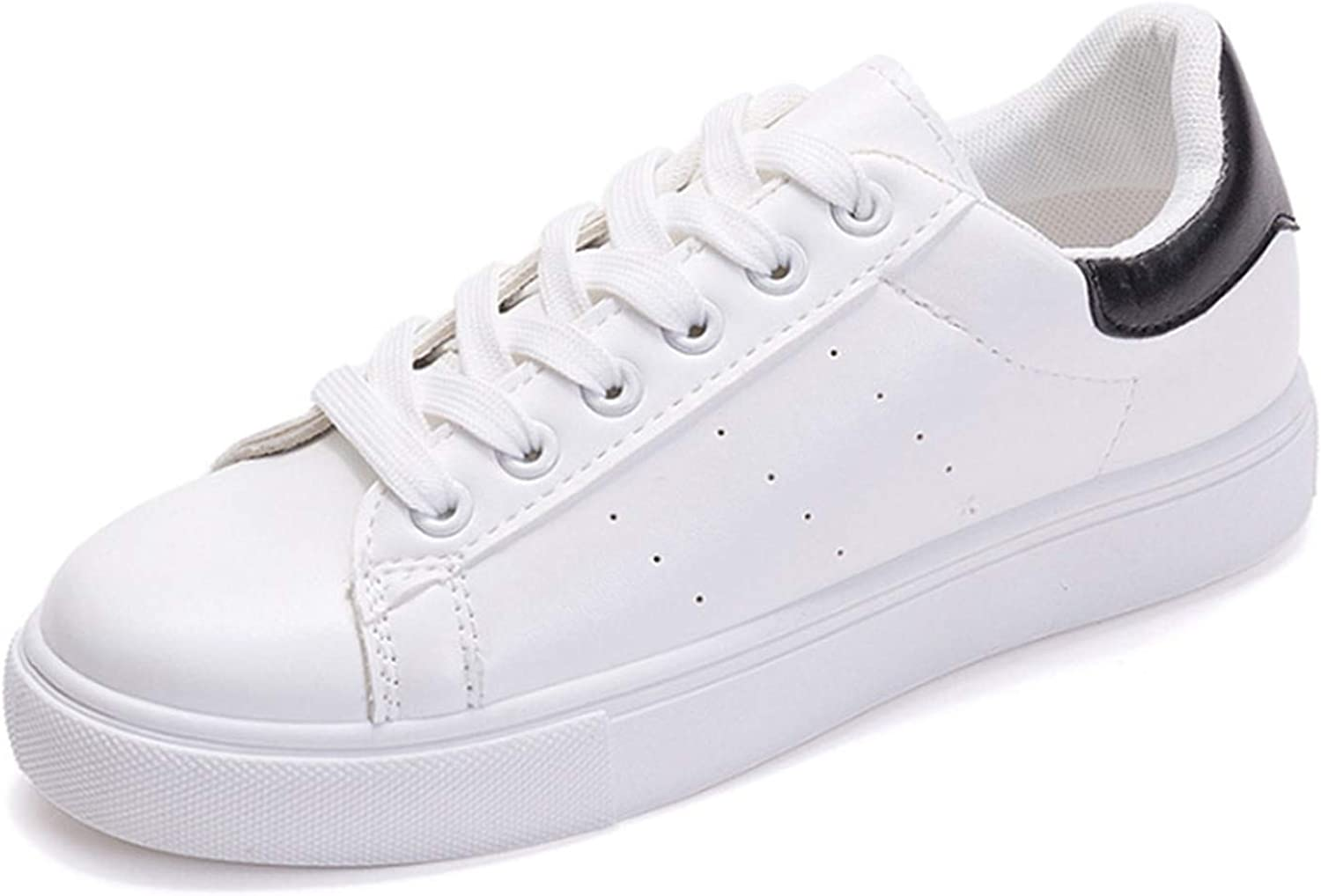 Women White shoes Flat Casual Vulcanized shoes Lace-Up Autumn Sneakers Platform Black 5