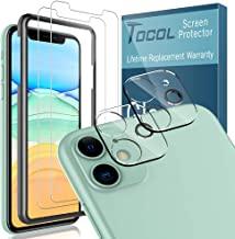 [4 Pack] TOCOL for iPhone 11 (6.1 inch) 2 Pack Tempered Glass Screen Protector and 2 Pack Tempered Glass Camera Lens Protector HD Clear Bubble Free Case Friendly 9H Hardness