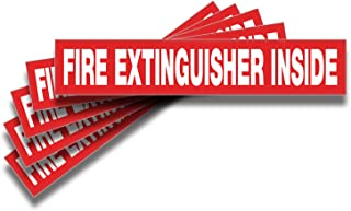 Fire Extinguisher Inside Signs Stickers – 5 Pack 9x1.7 Inch – Premium Self-Adhesive Vinyl, Laminated for Ultimate UV, Weat...