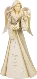 Enesco Foundations Christmas Angels Peace Be with You Figurine, 7.48 Inch, Multicolor