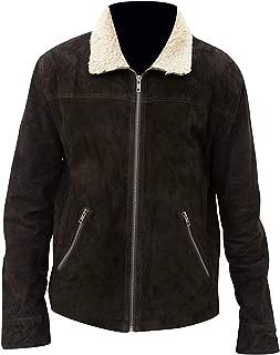 KAAZEE The Walking Dead Rick Grimes Season 5 Fur Collar Suede Leather Jacket