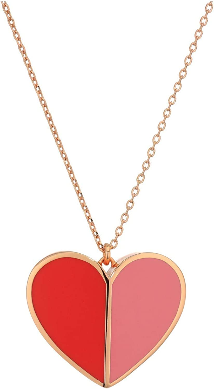 Kate Spade New York Heritage Spade Enamel Heart Pendant Necklace